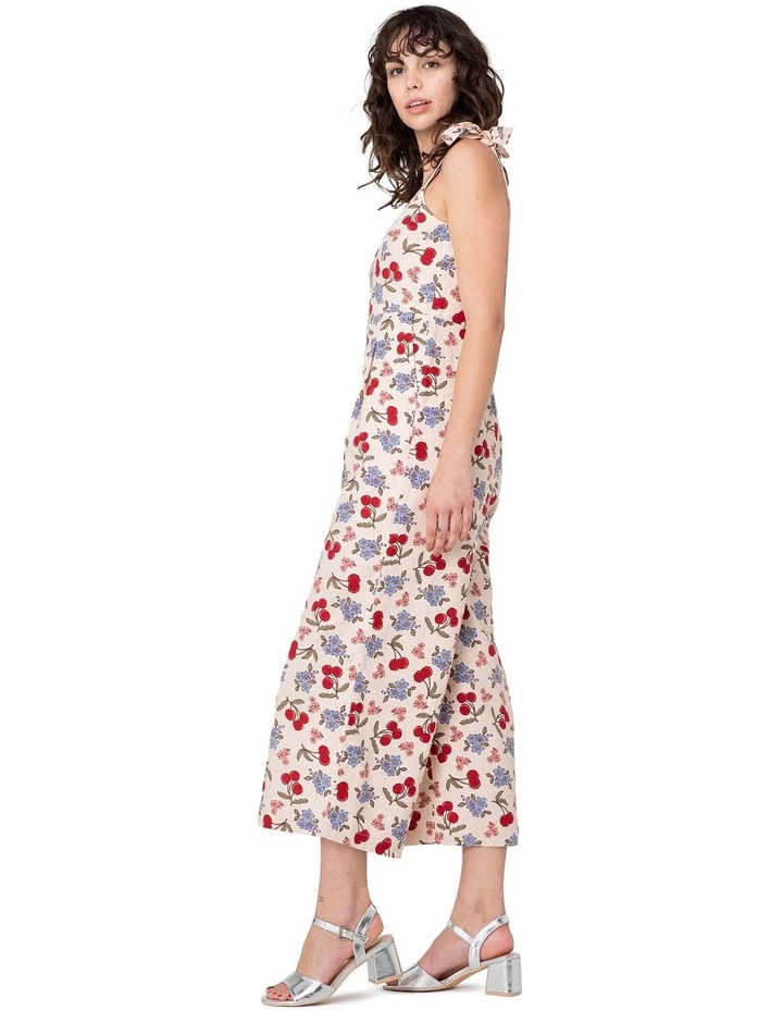 French Cherry High-Waisted Jumpsuit White image 2