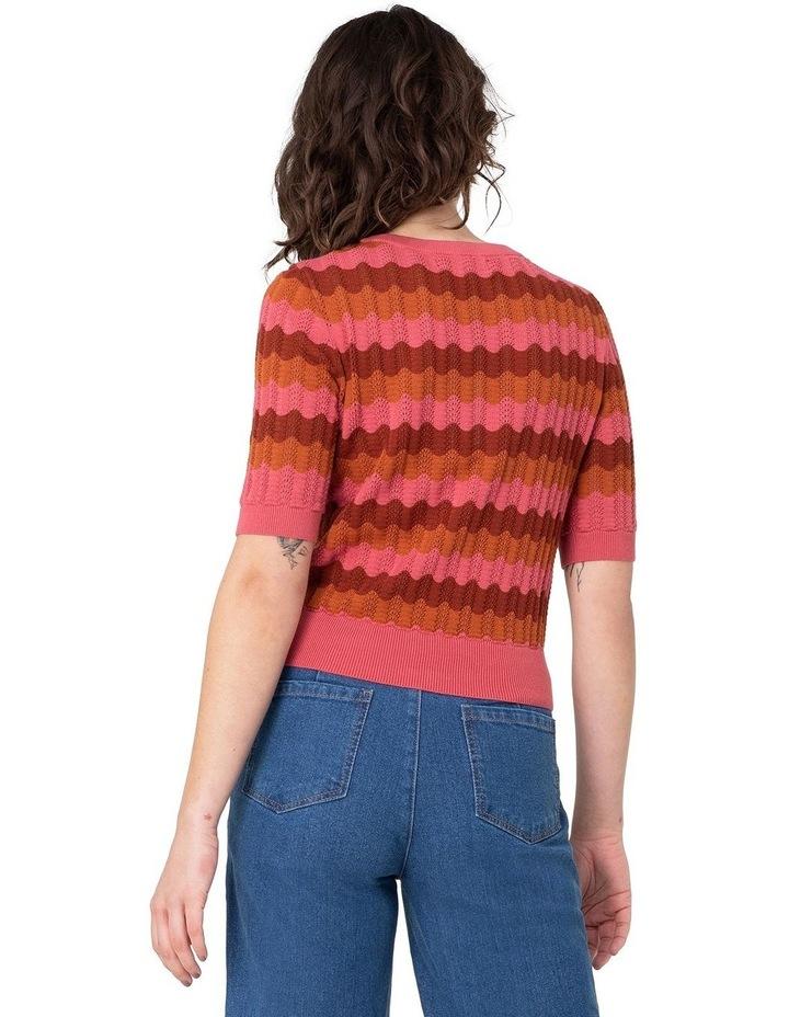 Sylvie Stripe Knit Top Pink image 3