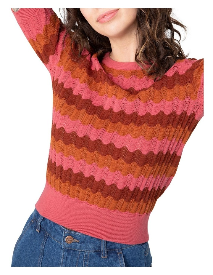 Sylvie Stripe Knit Top Pink image 4