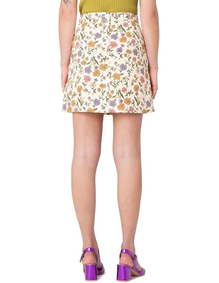 Heather Ditsy Drill Mini Skirt White image 3