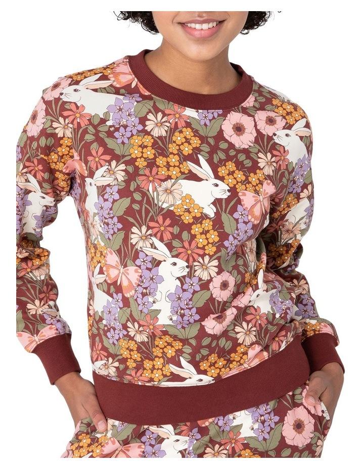 Garden Rabbit Crew Sweater Brown image 4