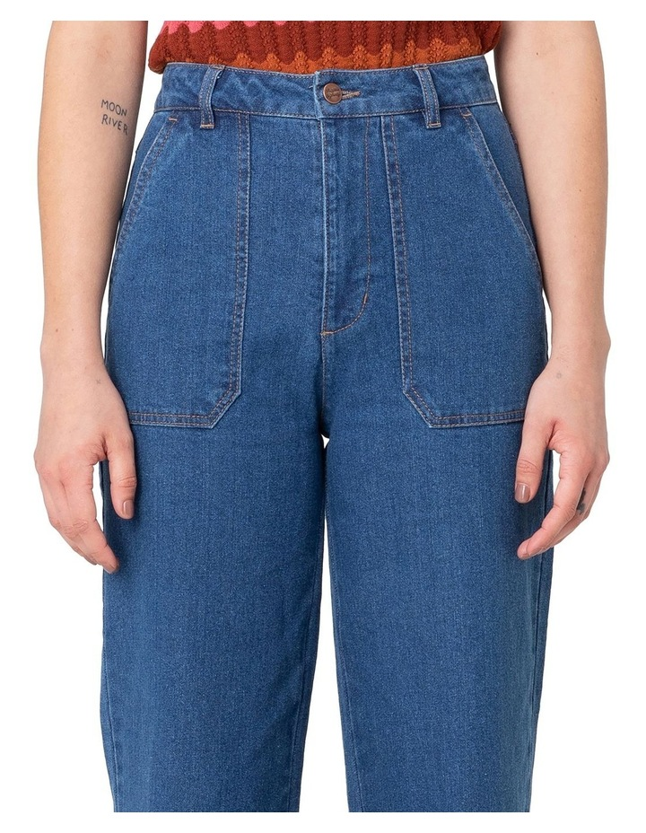 Riley High-Waisted Jeans Blue image 3