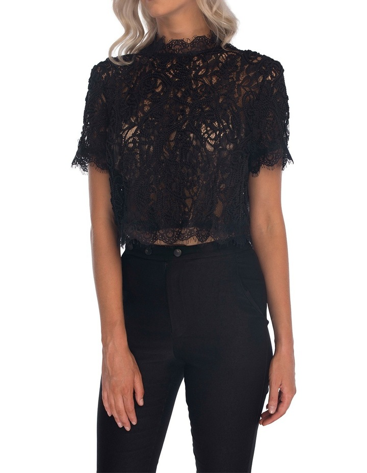 Onyx Lace Top image 1