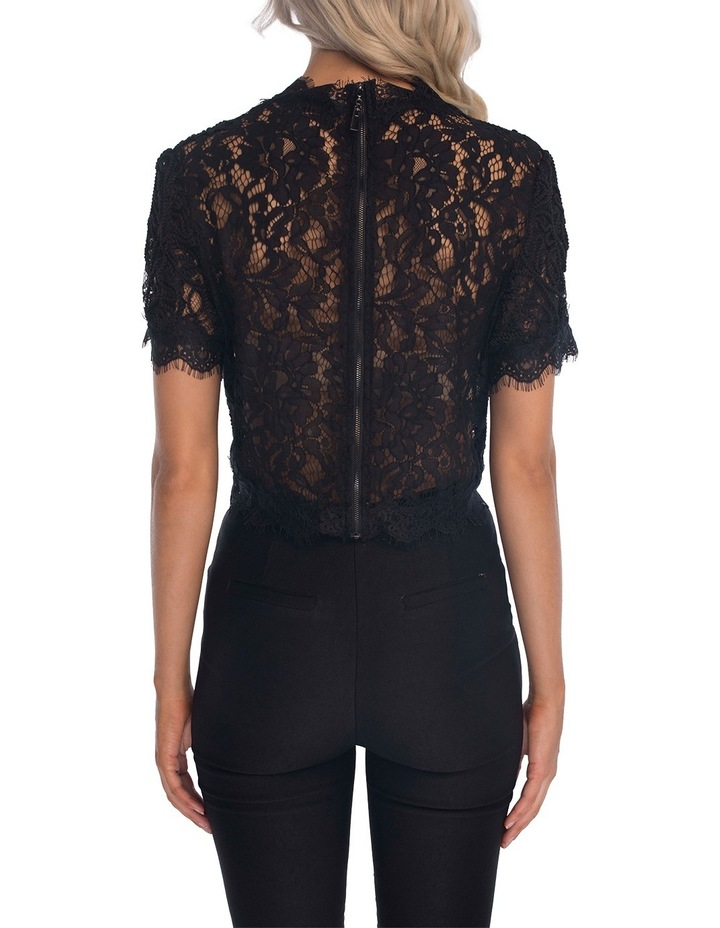 Onyx Lace Top image 2