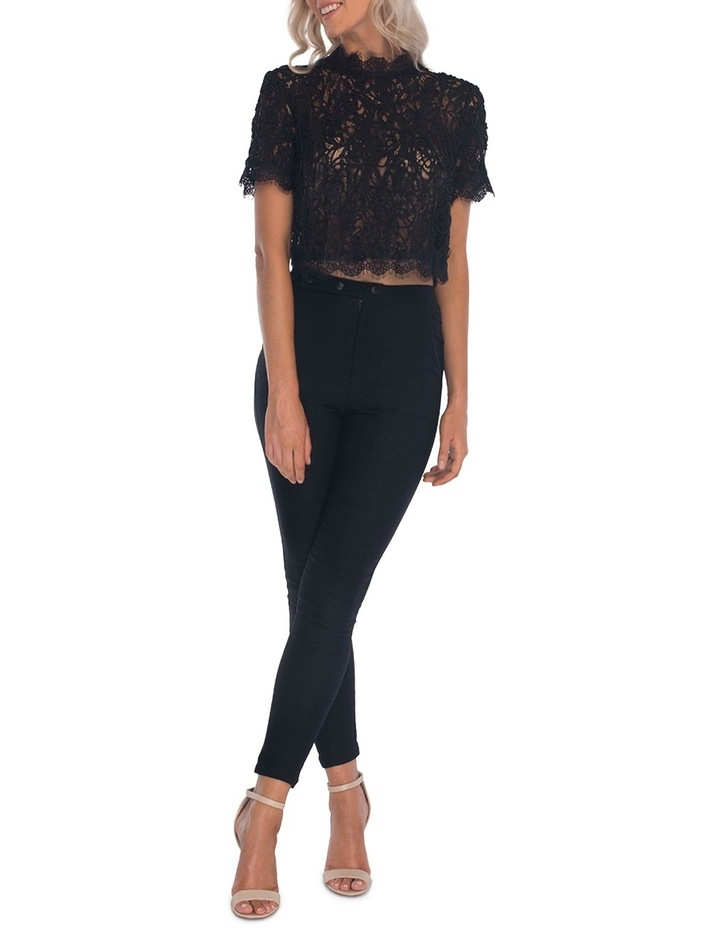 Onyx Lace Top image 3