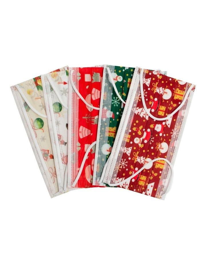 5pk Disposable Christmas Masks image 1