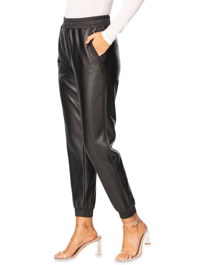 Clio Vegan Leather Jogger image 4