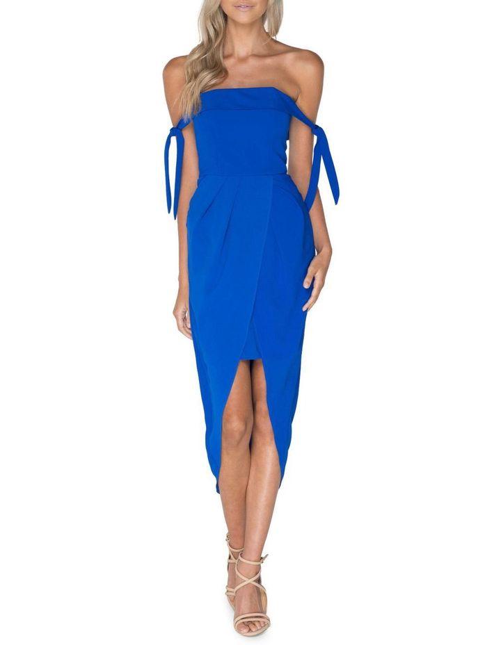 Blue Off Shoulder Dress image 1