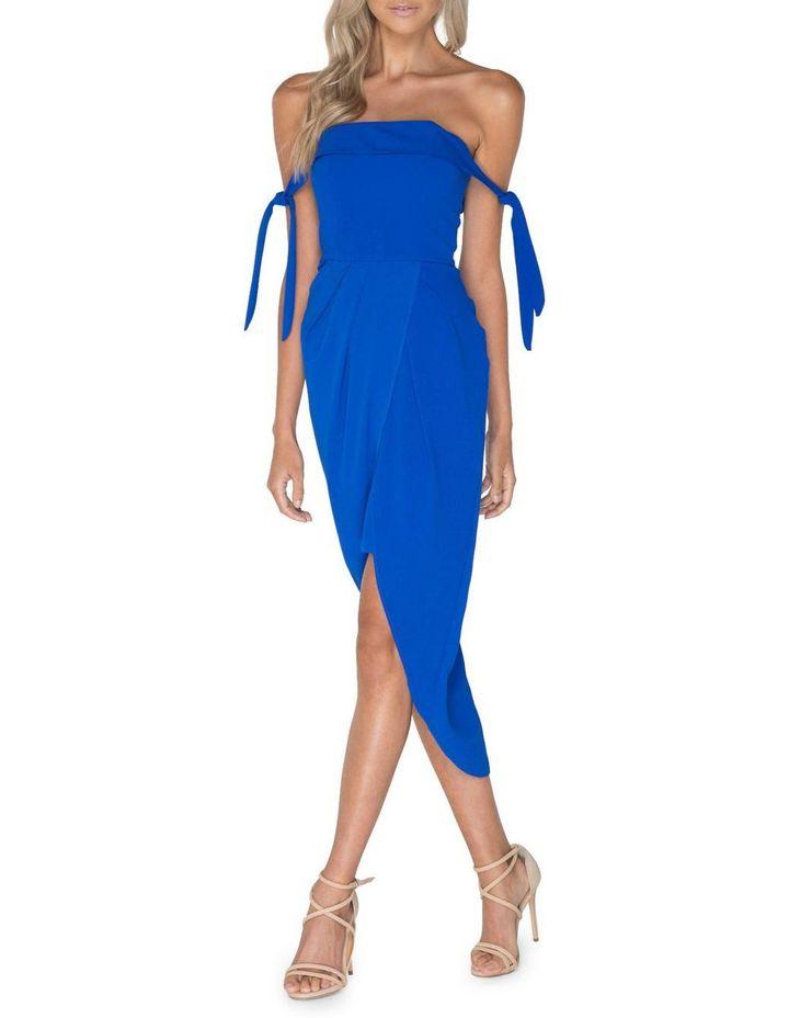 Blue Off Shoulder Dress image 2