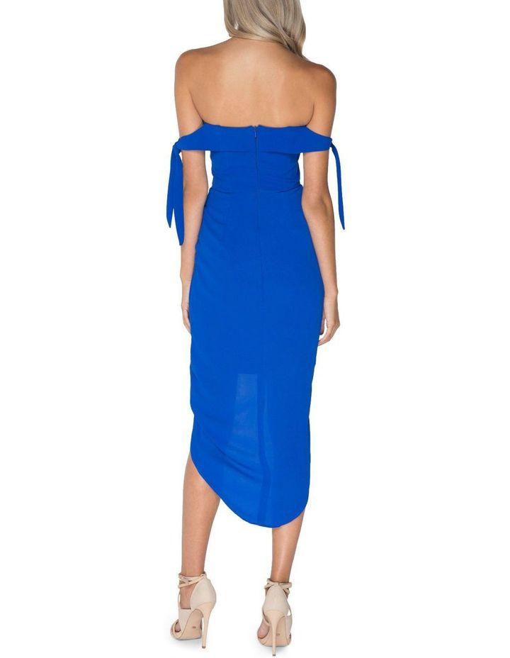 Blue Off Shoulder Dress image 3