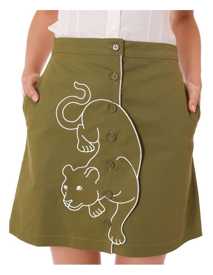 Leopard Ambuscade Skirt image 4