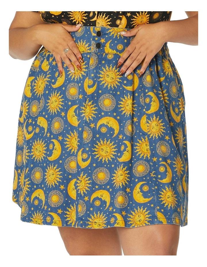 Celestial Denim Skirt Curve image 4