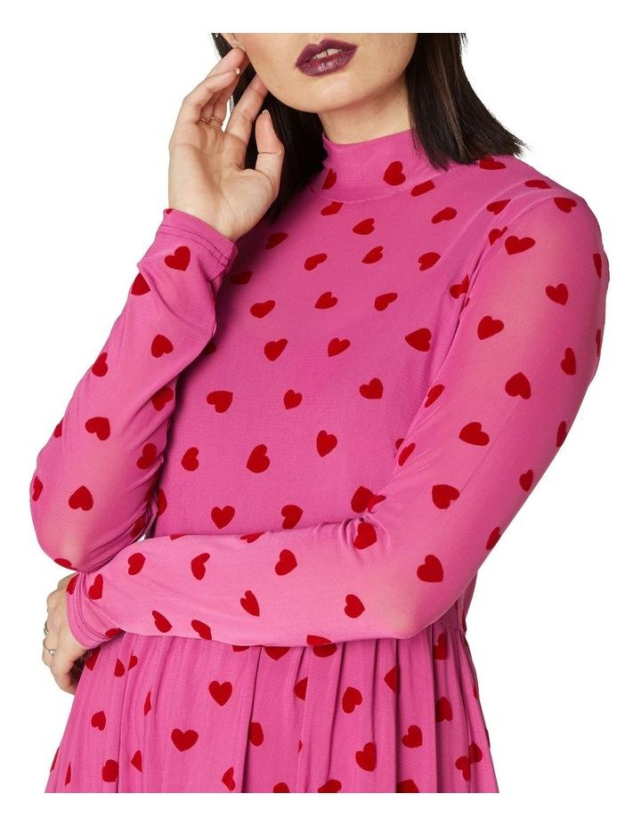 Dark Hearts Mesh Dress image 4