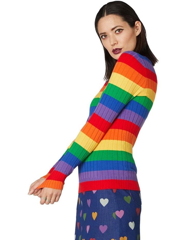 Rainbow Stripe Skivvy Knit image 2