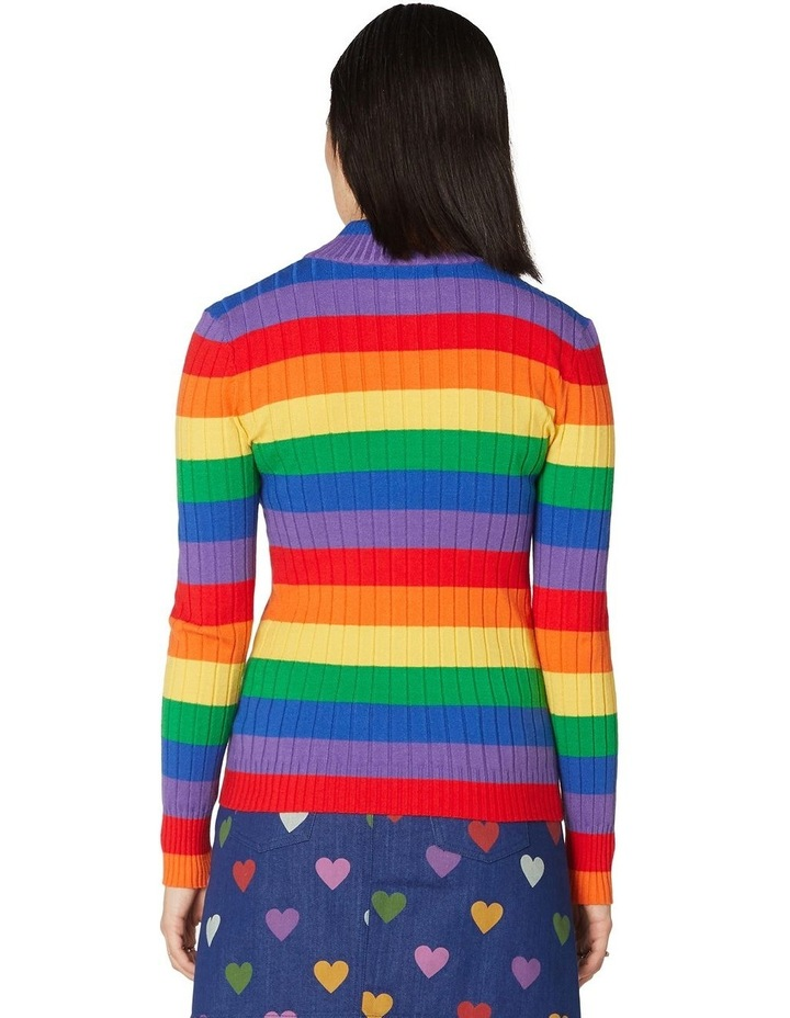 Rainbow Stripe Skivvy Knit image 3