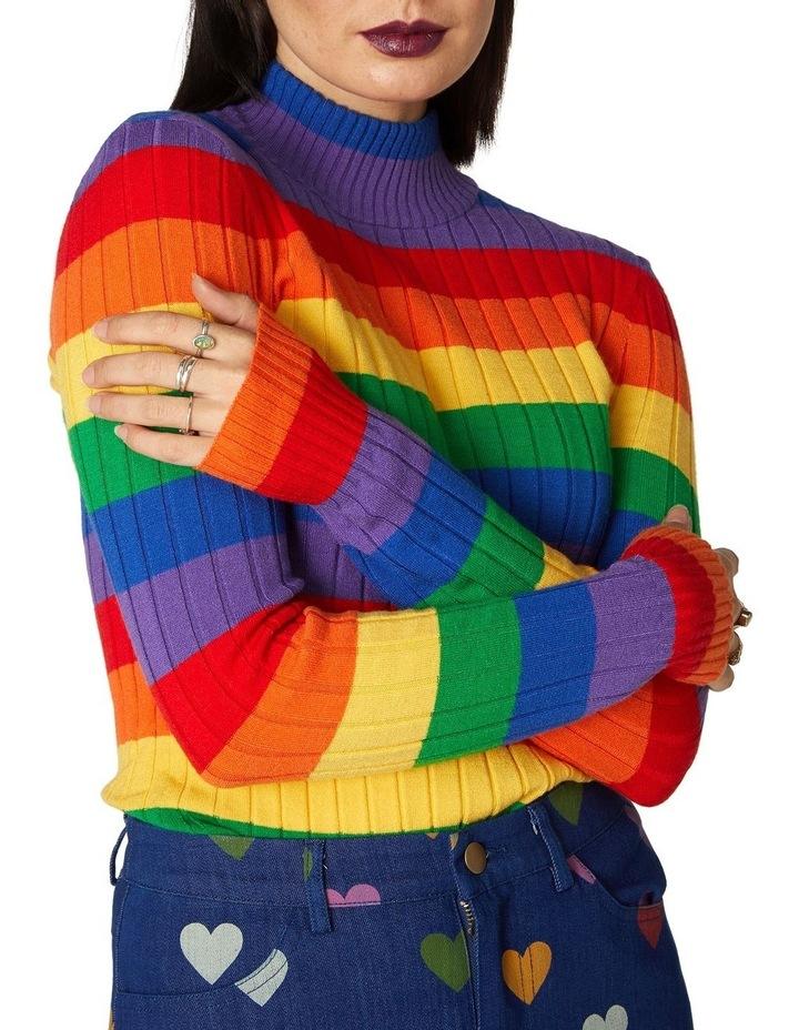 Rainbow Stripe Skivvy Knit image 4