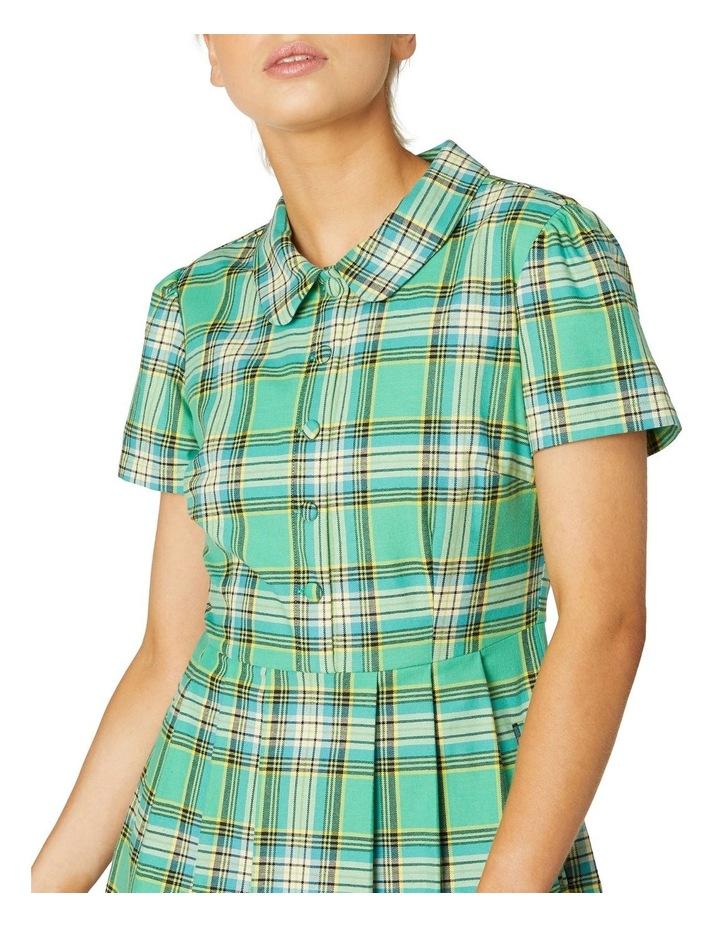 Spring Tartan Shirt Dress image 4