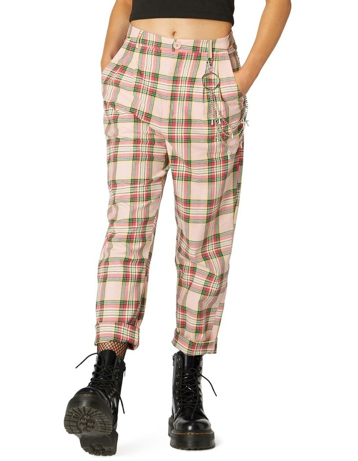 Spring Tartan Straight Pants image 1
