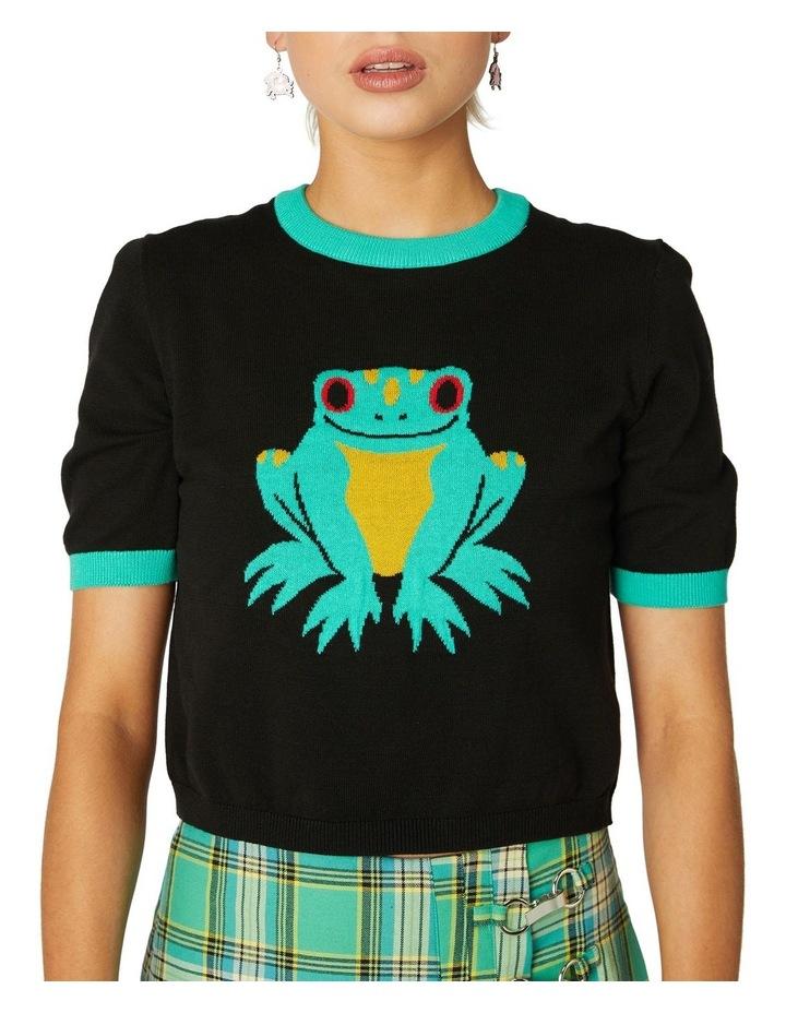 Frog Intarsia Cotton Knit image 4