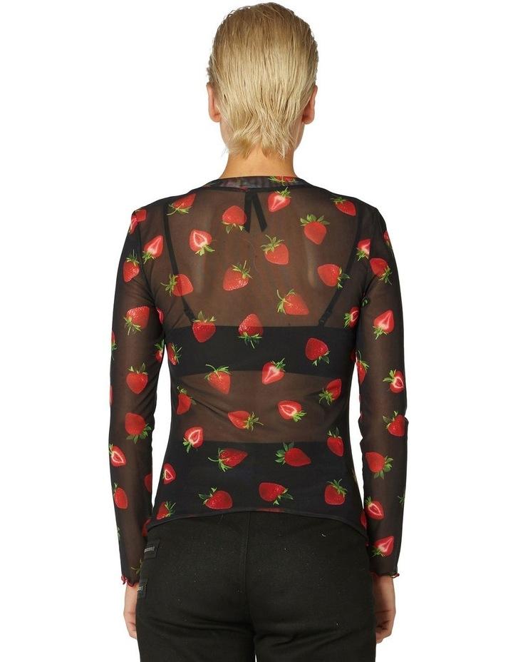 Strawberry Sheer Mesh Top Black image 3