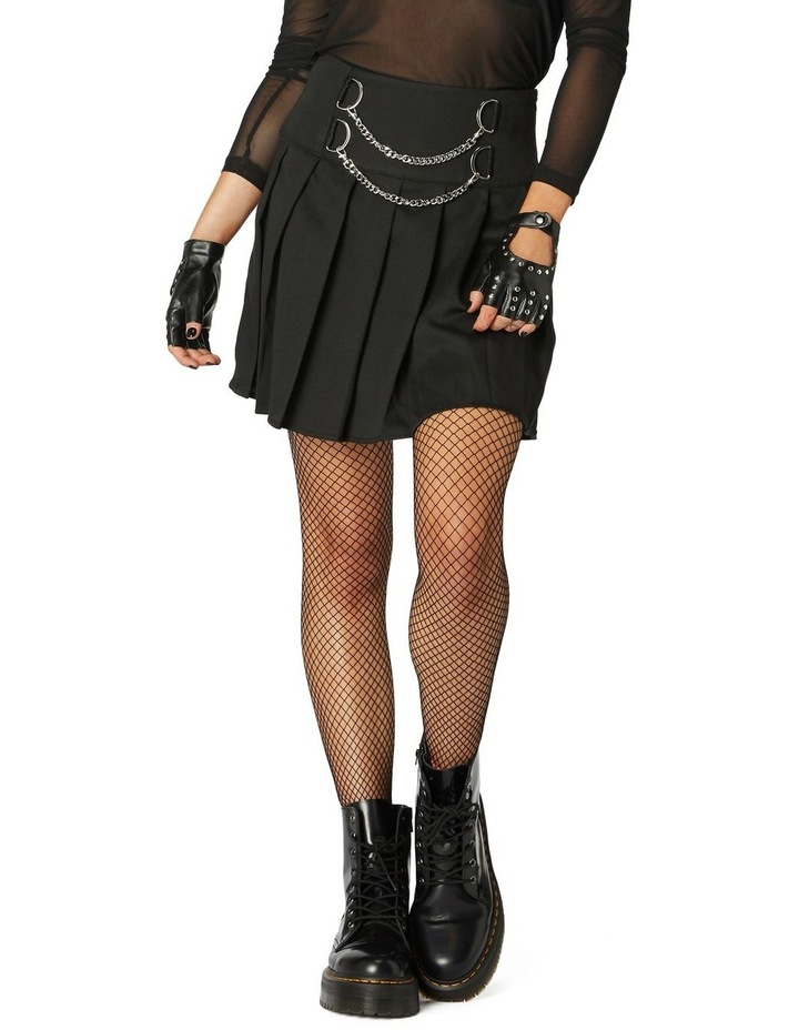 Punk Chain Pleated Skirt image 1
