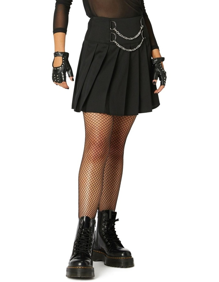 Punk Chain Pleated Skirt image 2