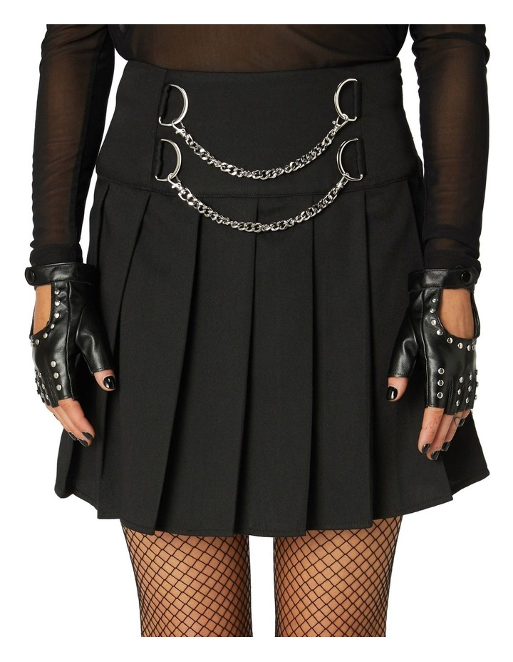 Punk Chain Pleated Skirt image 4