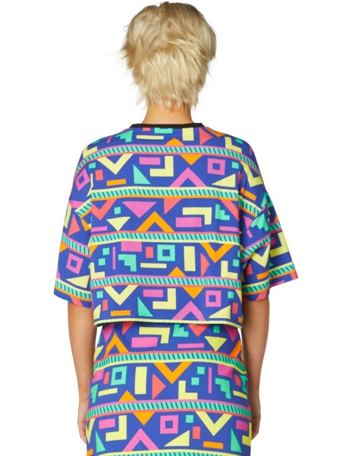Crazy Geo Cropped SS Tee image 3