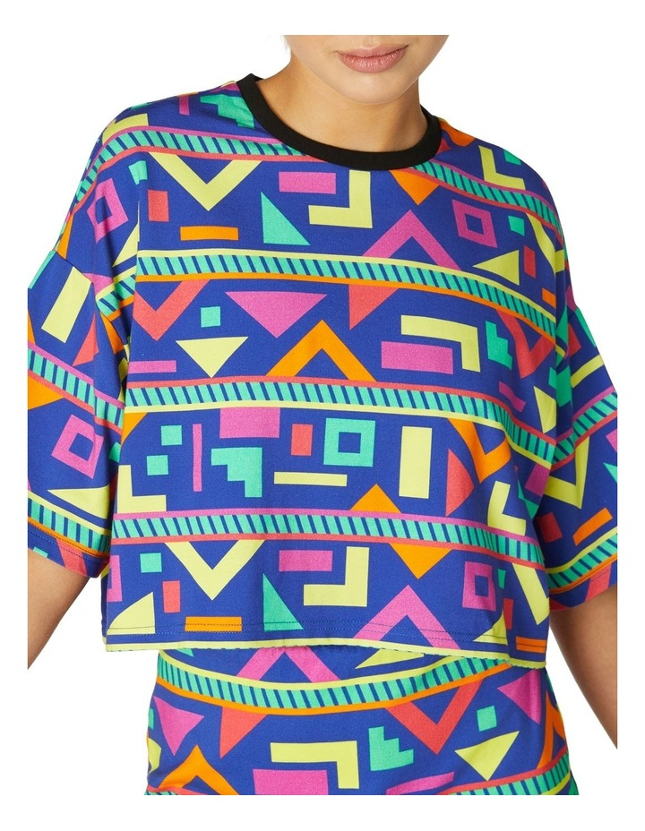 Crazy Geo Cropped SS Tee image 4