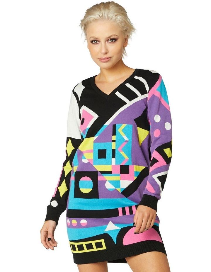 80s Geo LS Dress Knit image 1