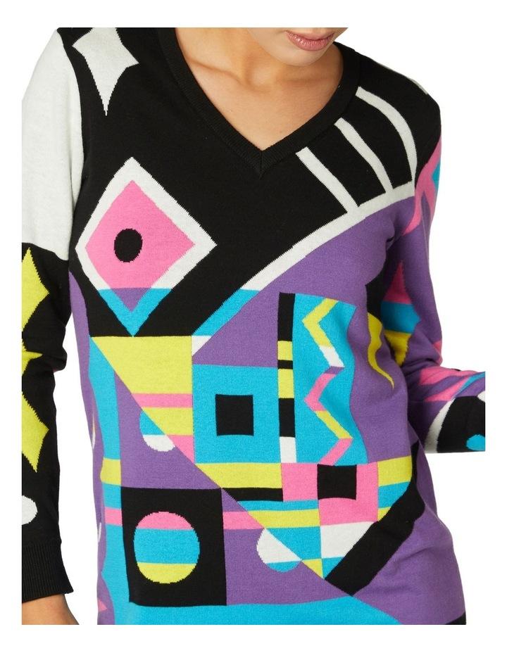 80s Geo LS Dress Knit image 4