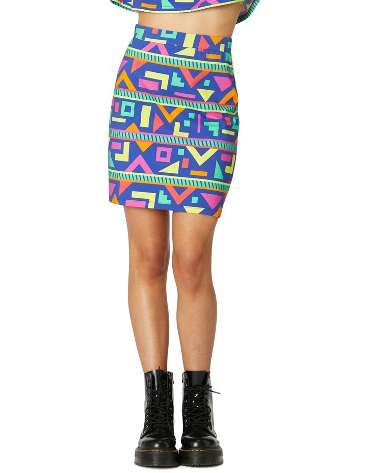 Crazy Geo Mini Skirt image 1