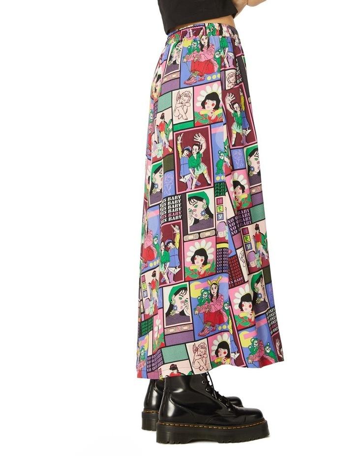 Comic Viscose Midi Skirt image 2