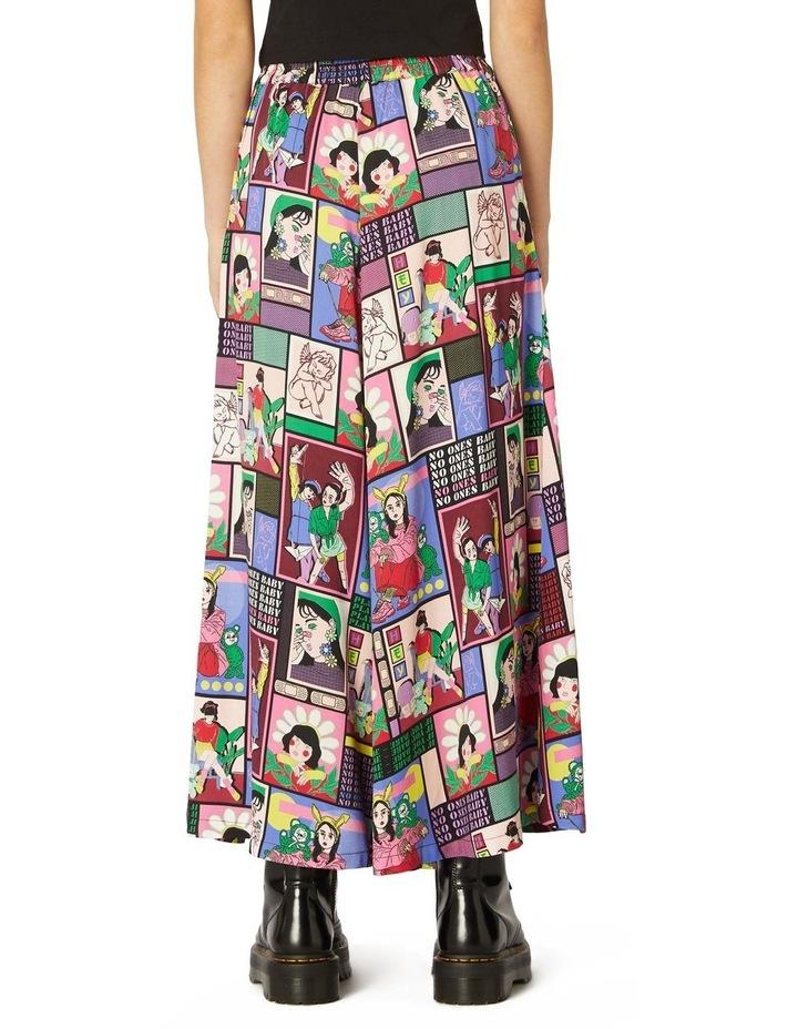Comic Viscose Midi Skirt image 3