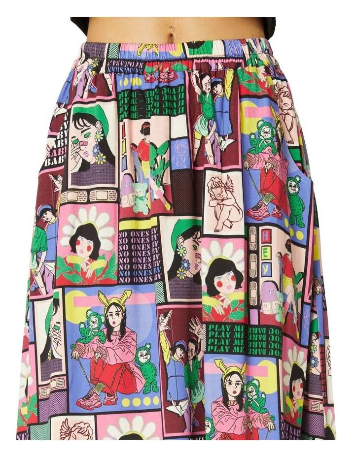 Comic Viscose Midi Skirt image 4