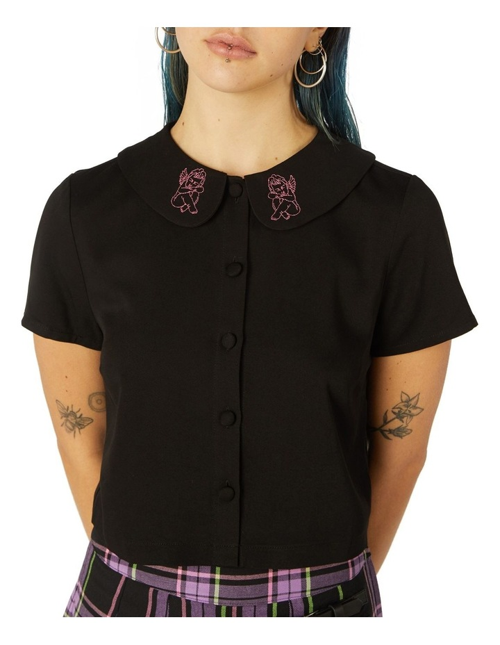 Cupid Embroidered Collar Blouse image 3