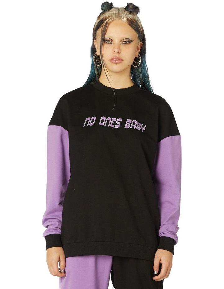 Colour Block Print Sweater image 1