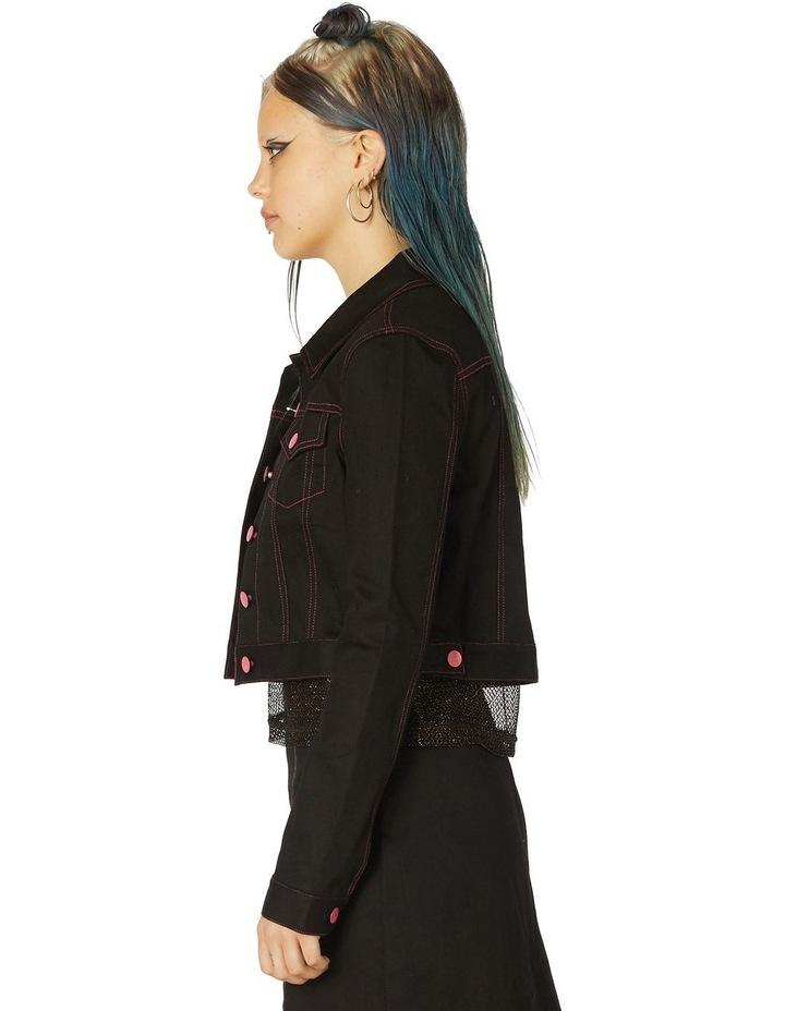 Contrast Stitch Goth Jacket image 2