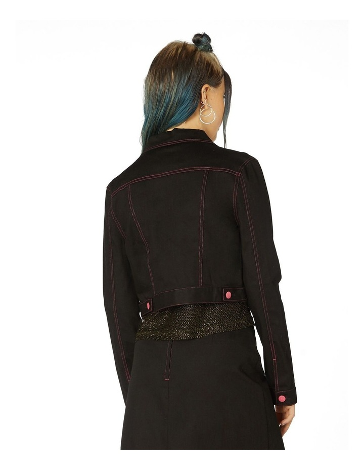 Contrast Stitch Goth Jacket image 3