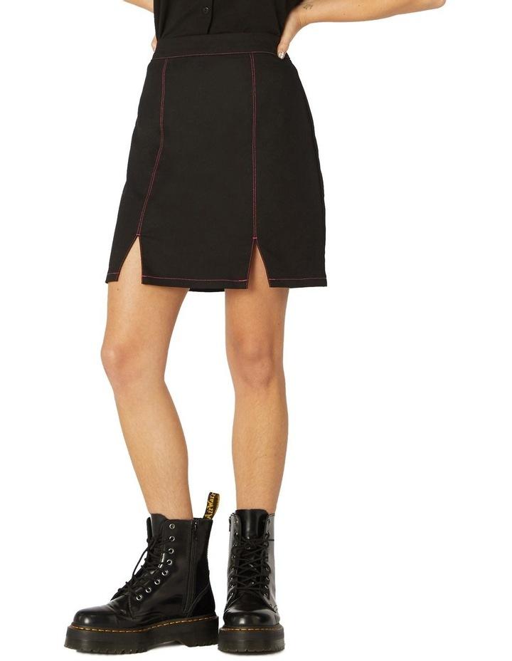 Contrast Stitch Goth Skirt image 1