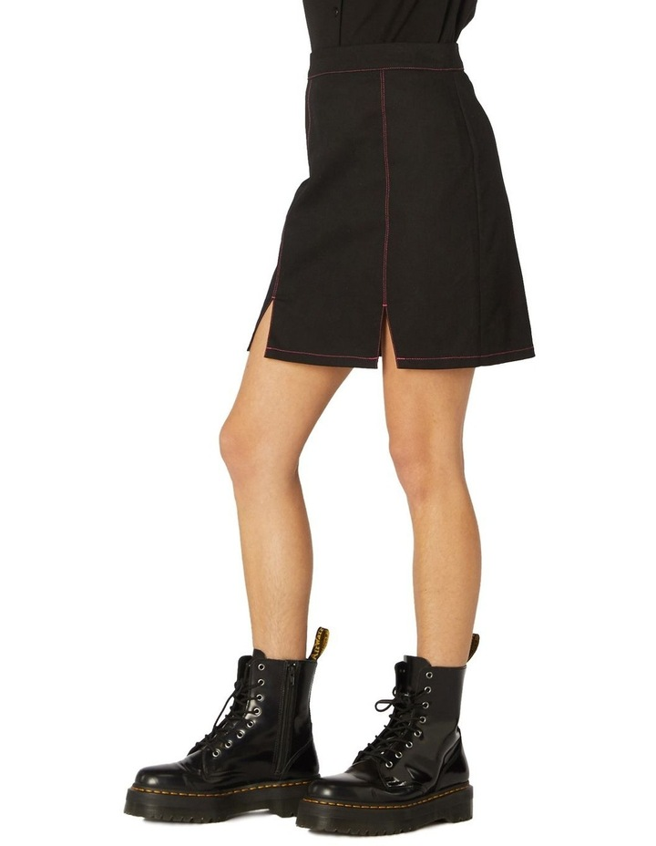 Contrast Stitch Goth Skirt image 2