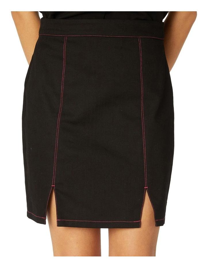 Contrast Stitch Goth Skirt image 4