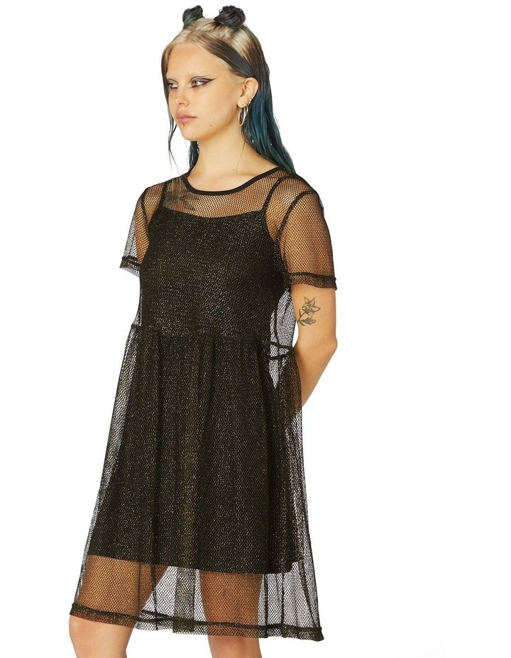Metallic Mesh Goth Dress image 2