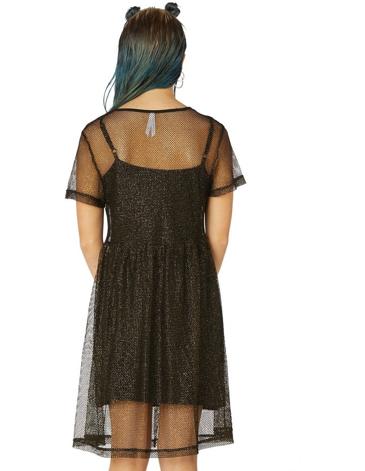 Metallic Mesh Goth Dress image 3