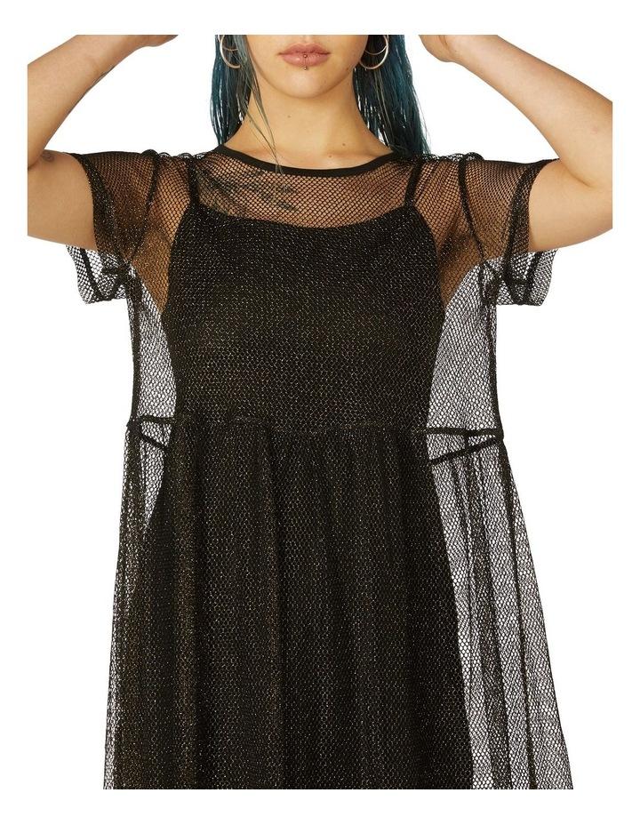 Metallic Mesh Goth Dress image 4