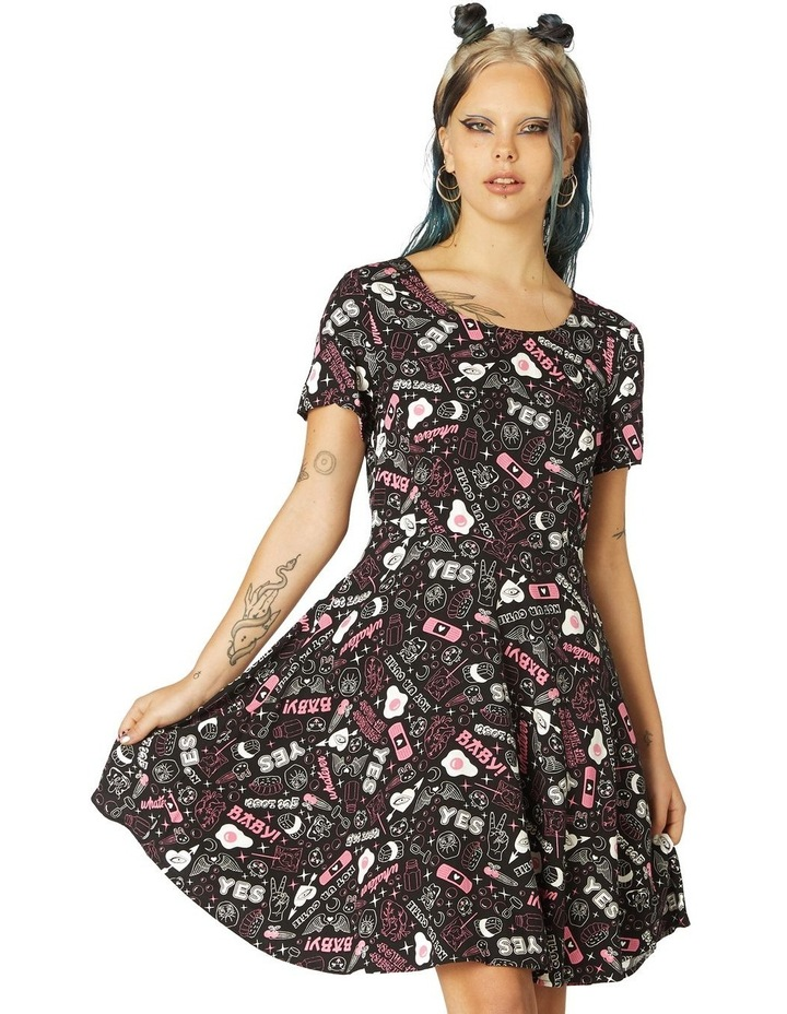 Printed Viscose Goth Dress image 1