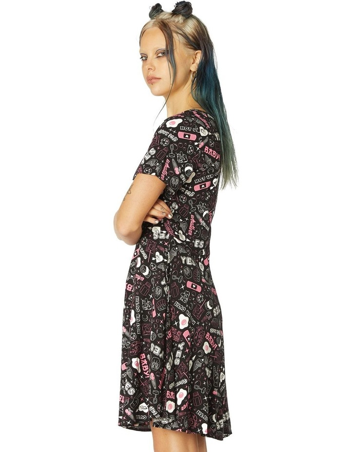 Printed Viscose Goth Dress image 2