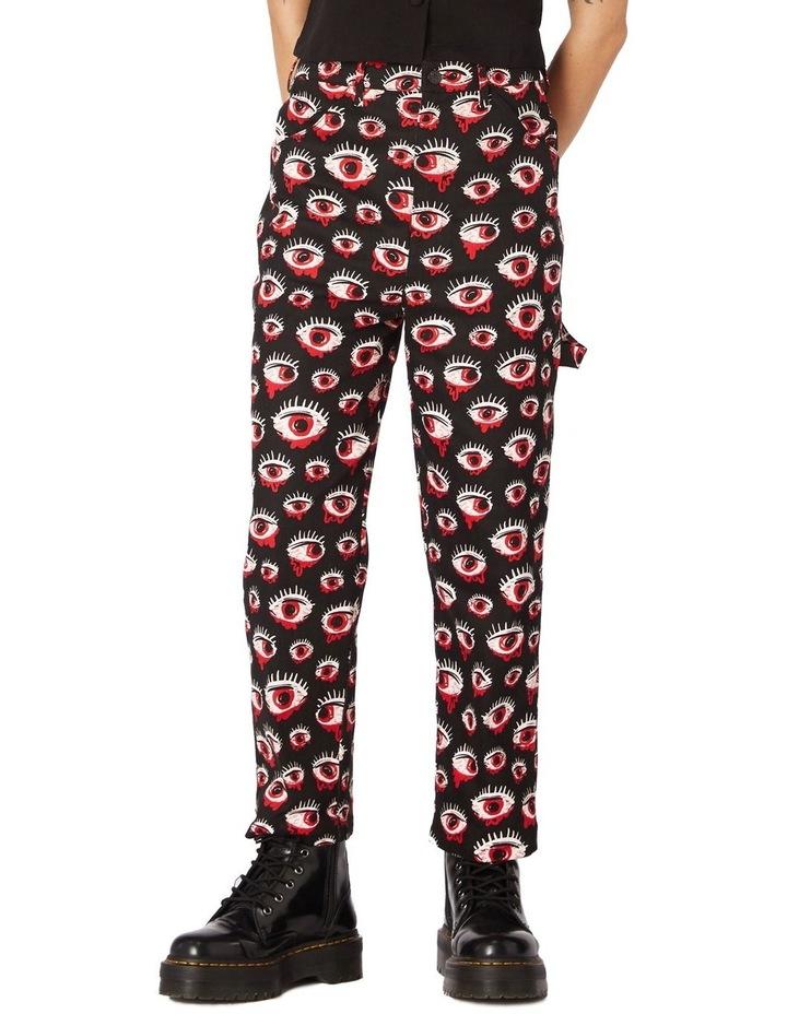 Printed Drill Punk Pants image 1