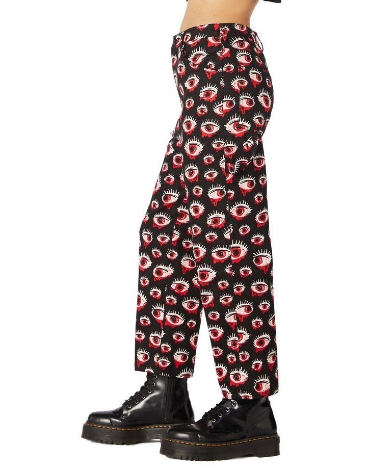 Printed Drill Punk Pants image 2
