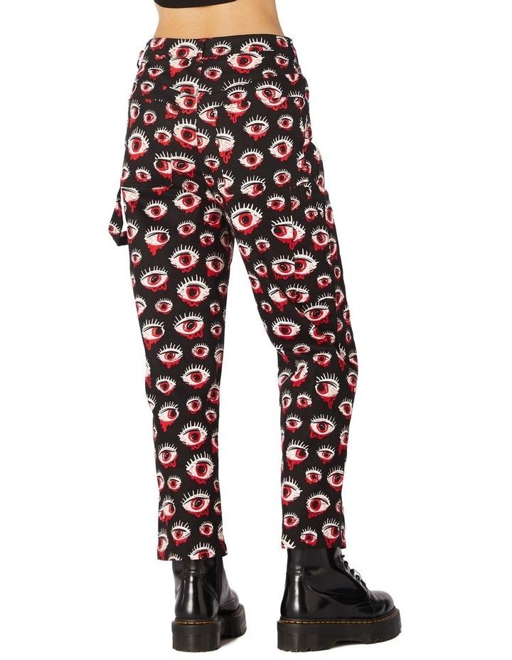 Printed Drill Punk Pants image 3